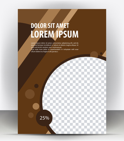 flayer: Vector brochure, flayer, magazine, poster, cover empty print brown template
