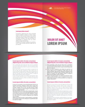 bifold: Vector empty bifold brochure print design template Illustration