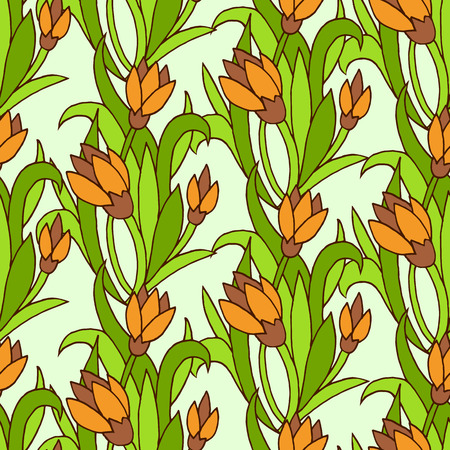 ethnical: Vector seamless bright ethnic endless green pattern, floral ethnical ornament, fashion pattern for fabric