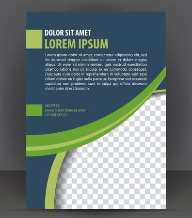 flyer layout: Magazine, flyer, brochure, cover layout design print template