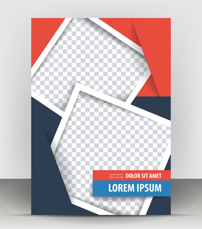 concert poster: Magazine, flyer, brochure and cover layout design print template, pamphlet vector Illustration Illustration