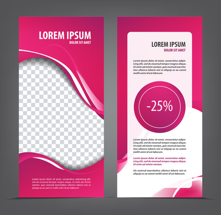 Magazine, flyer, brochure, beauty layout violet flayer design template, business vector Illustration Illustration