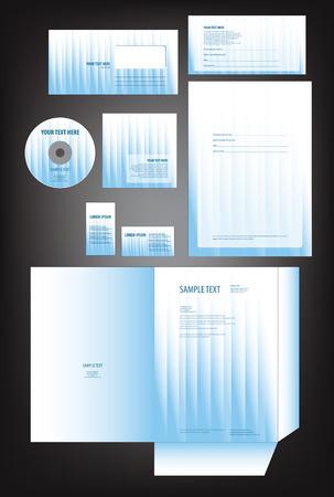 bright: Editable bright empty vector template Illustration