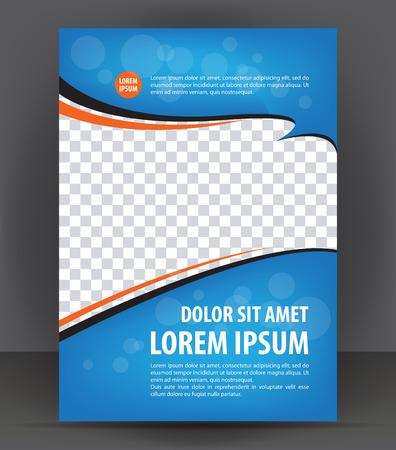 Magazine, dépliant, brochure, couverture mise en page modèle de conception d'impression, vecteur Illustration bleu Banque d'images - 46566733