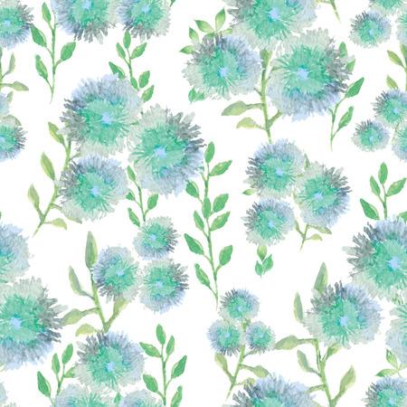 petites fleurs: Vecteur Aquarelle pattern avec de petites fleurs, lumineux aquarelle floral background