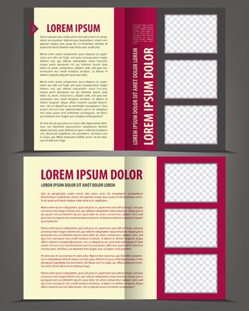 stern: Vector empty bi-fold brochure print template flat design