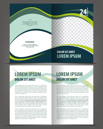 print template: Vector empty bifold brochure design print template Illustration