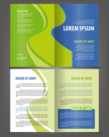 print template: Vector empty bifold brochure print template design