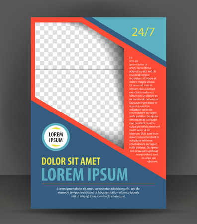 design layout: Magazine, flyer, brochure and cover layout design print template, vector booklet Illustration
