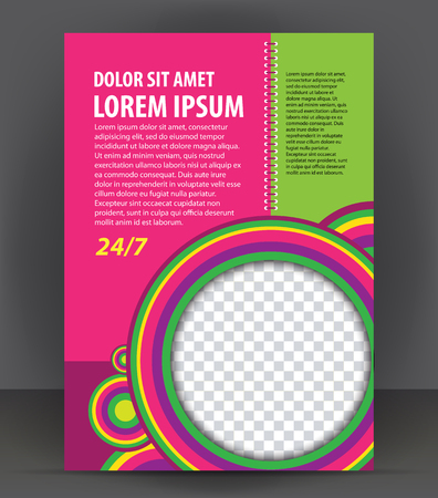 magazine design: Magazine, flyer, brochure, beauty cover layout violet design template, vector Illustration