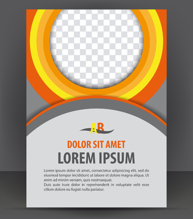 Magazine, flyer, brochure and cover layout design print template, vector booklet Illustration