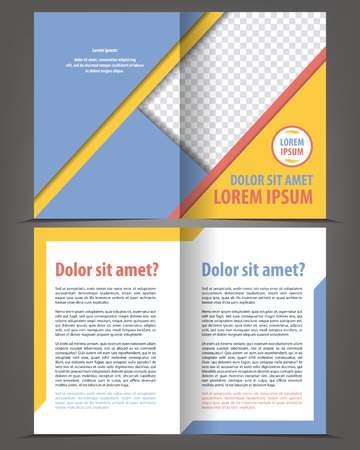 book pages: Vector empty brochure print template design with gray elements Illustration
