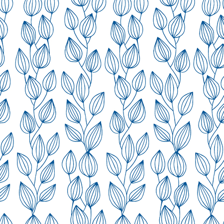 ethnical: Vector seamless bright ethnic endless pattern, branches ethnical ornament, fashion fabric pattern