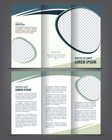 threefold: Vector empty trifold brochure print template design Illustration