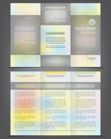 threefold: Trifold business brochure template