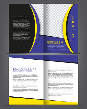 bifold: Vector empty bifold brochure print template design