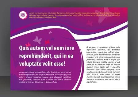 booklet design: Magazine, flyer, brochure or cover layout design print template, vector booklet Illustration