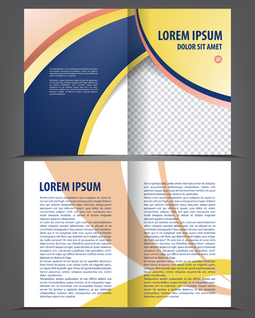 folders: advertising, analyze, background, blank, book, booklet, branding, brochure, business, company, corporate, corporation, cover, design, empty, feedback, flayer, flyer, folder, illustration, information, inside, layout, leaflet, magazine, management, marketi Illustration