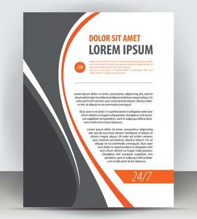 pamphlet: Magazine, flyer, brochure and cover layout design print template, pamphlet vector letter format Illustration Illustration