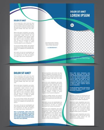 brochure: Vector vacío de tres veces el diseño de plantilla imprimir el catálogo, folleto tríptico brillante o flayer