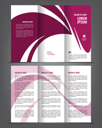 print template: empty trio-fold brochure template print design