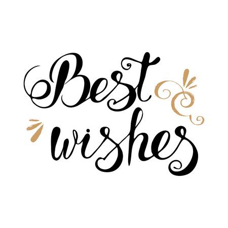 felicitaciones: Los mejores deseos de letras tipografía, imágenes prediseñadas para las tarjetas