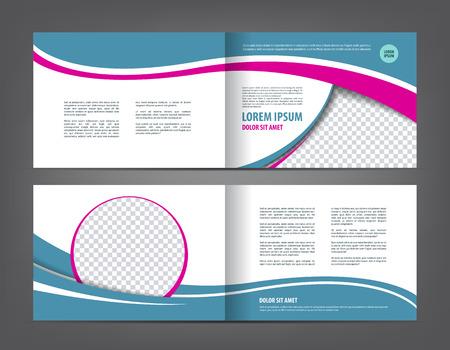 bifold: empty bi-fold brochure print template design