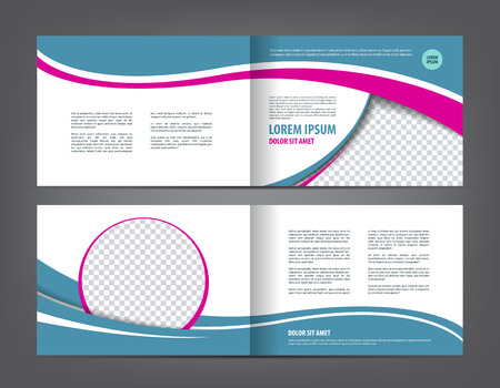 empty bi-fold brochure print template design