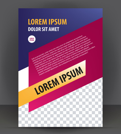 print template: Magazine, brochure, cover layout design print template