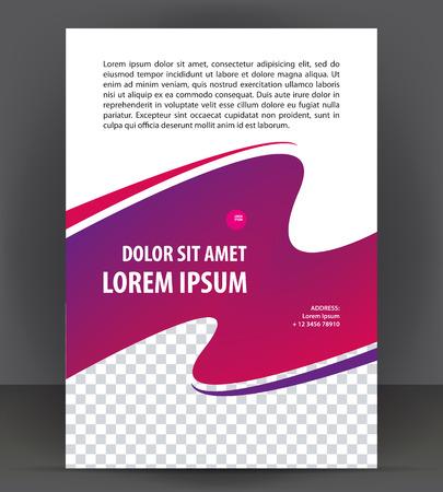 Magazine, brochure, purple cover layout design print template Illusztráció