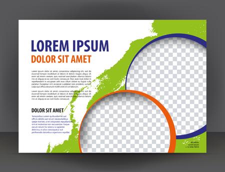 magazine template: Magazine, brochure, purple cover layout design print template Illustration