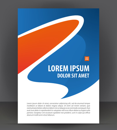 Magazine, brochure, cover layout design print template