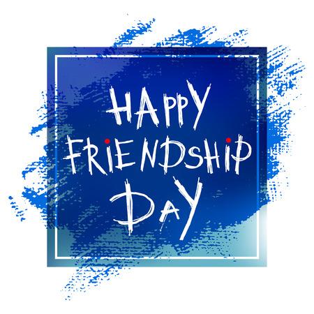 dearness: Happy friendship day lettering on blue background
