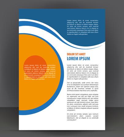 magazine template: Magazine, flyer, brochure, cover layout design print template