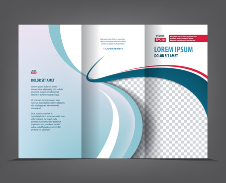 Vector Tri Fold Brochure Template Design, Concept Business Trifold ...