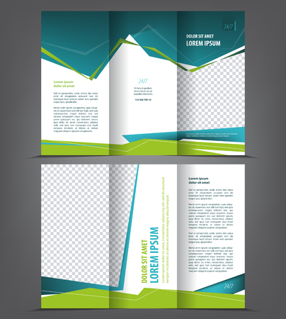 Tri Fold Brochure Template Images Pictures Royalty Free – 3 Fold Flyer Template