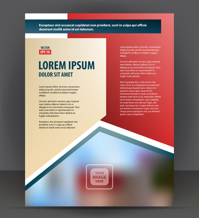 throwaway: Magazine, flyer, brochure, cover layout design print template, pamphlet vector letter format Illustration