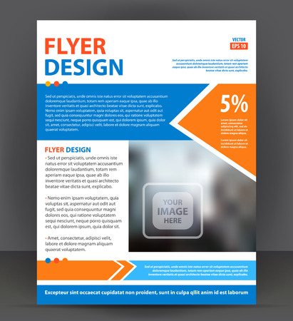 pamphlet: Abstract flyer, brochure, cover layout design print template, pamphlet vector letter format Illustration