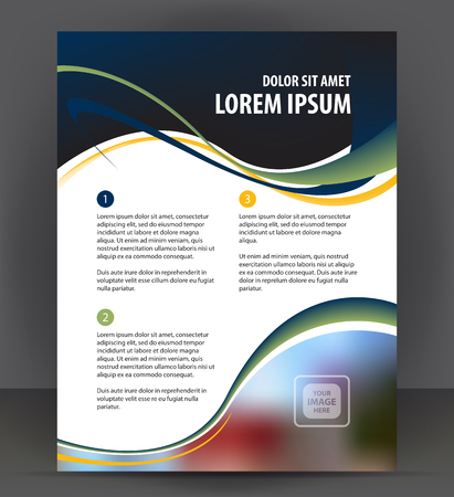 throwaway: Abstract flyer, brochure, cover layout design print template, pamphlet vector letter format Illustration