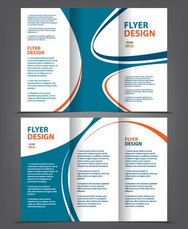 Vector tri fold brochure template design concept business leaflet vector vector tri fold brochure template design concept business leaflet 3 folded blue vector flyer layout flashek Choice Image