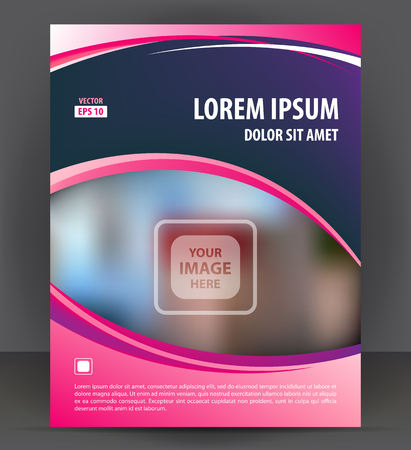 throwaway: Magazine, flyer, brochure, beauty cover layout violet design template, vector Illustration