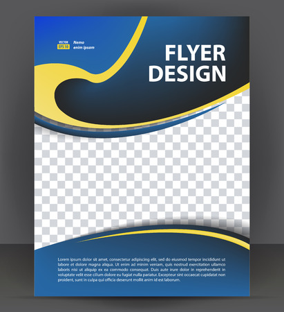 throwaway: Flyer brochure, cover layout design print template, pamphlet vector letter format Illustration Illustration