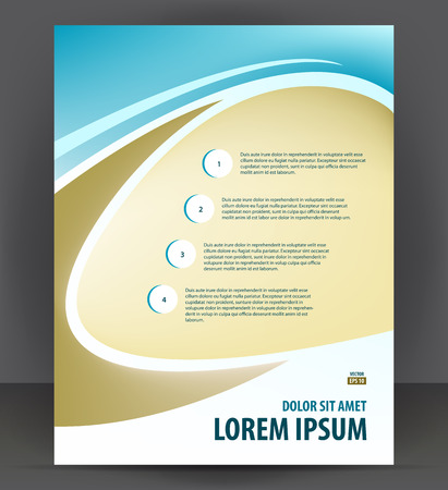 design template: Flyer brochure, cover layout design print template, pamphlet vector letter format Illustration Illustration