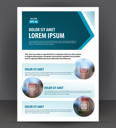 throwaway: Flyer brochure, cover layout design print template, pamphlet vector A4 format Illustration