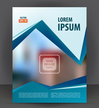 broadsheet: Flyer brochure, cover layout design print template, pamphlet vector letter format Illustration Illustration
