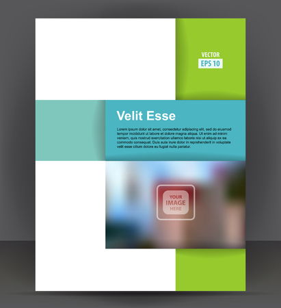 Flyer brochure, cover layout design print template, pamphlet vector Illustration