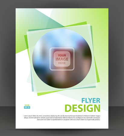 throwaway: Flyer brochure, cover layout design print template, pamphlet vector Illustration