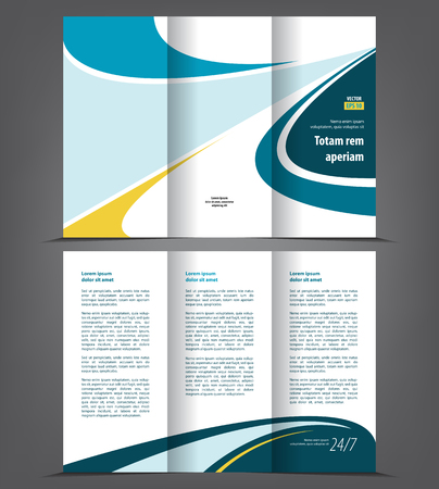 Vector tri fold brochure template design concept business leaflet vector vector tri fold brochure template design concept business leaflet 3 folded blue vector flyer layout cheaphphosting Image collections