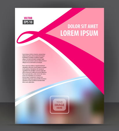 catalog: Flyer brochure, cover layout design print template, pamphlet vector Illustration