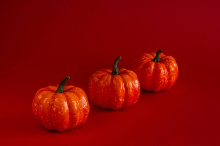 Halloween. Pumpkin. Attributes of a festive decoration. Place for text.